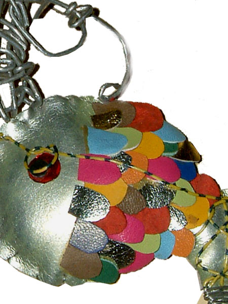 fish necklace detail